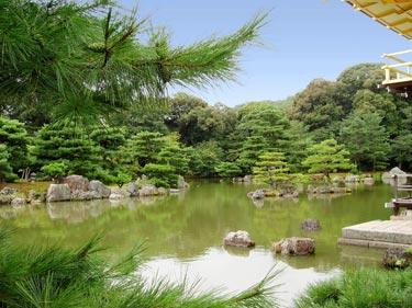 Blick über den Teich der Haupgartenanlage
