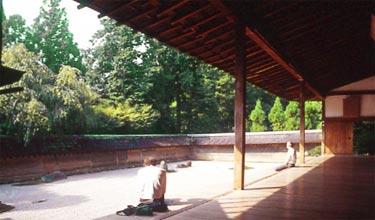 Ryoan-ji, Blick in die Haupt-Gartenanlage