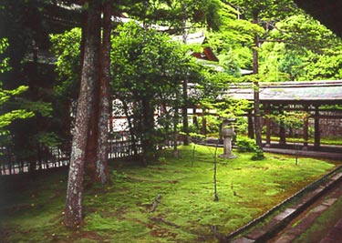 Ryoan-ji, Moosgarten in einem Nebenbereich